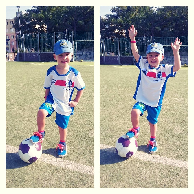 Prvý futbalový tréning