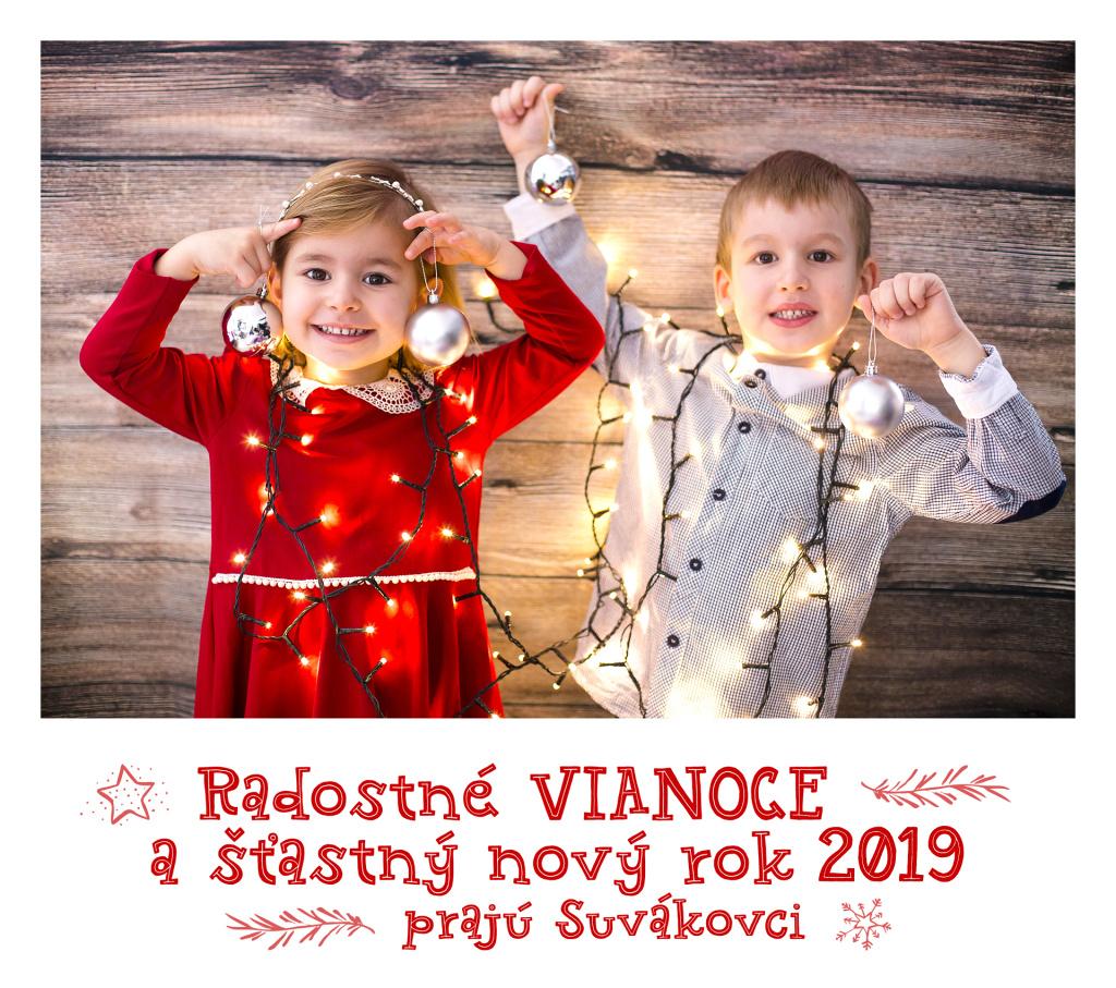 Radostné Vianoce a šťastný nový rok 2019